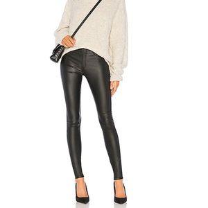 NWT DR. Denim Black Coated Faux Leather Pants